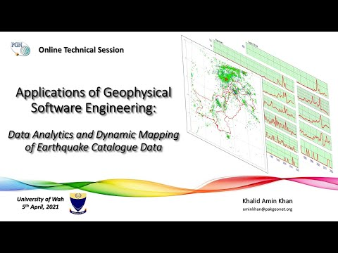 Geophysical Software Engineering:  Data Analytics and Dynamic Mapping of Earthquake Catalogue Data