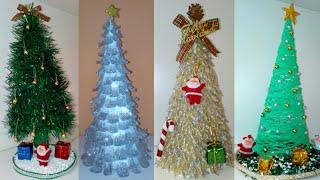DIY 4 Árboles Navideños Con Reciclaje - Adornos Navideños 2018 - Manualidades Navideñas #diynavidad