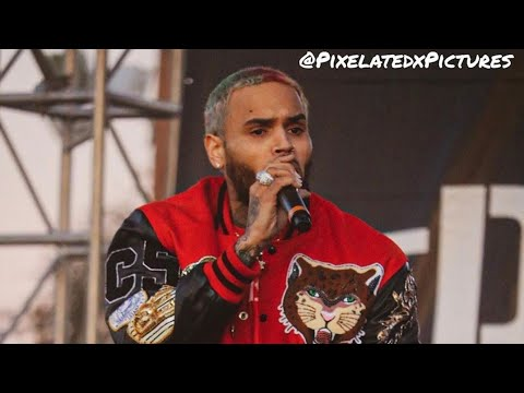 "Chris Brown Performing ""No Guidance & Heat"" During TDE Toy Drive In LA (2019)"