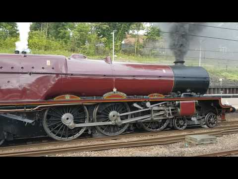 Princess Elizabeth 6201 stopped at Alexander palace on the cathedral express 28th August 2016