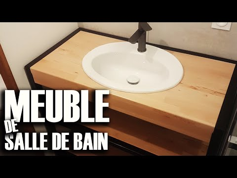Meuble de Salle de Bain Metal et Bois - DIY // ⓇⒷ