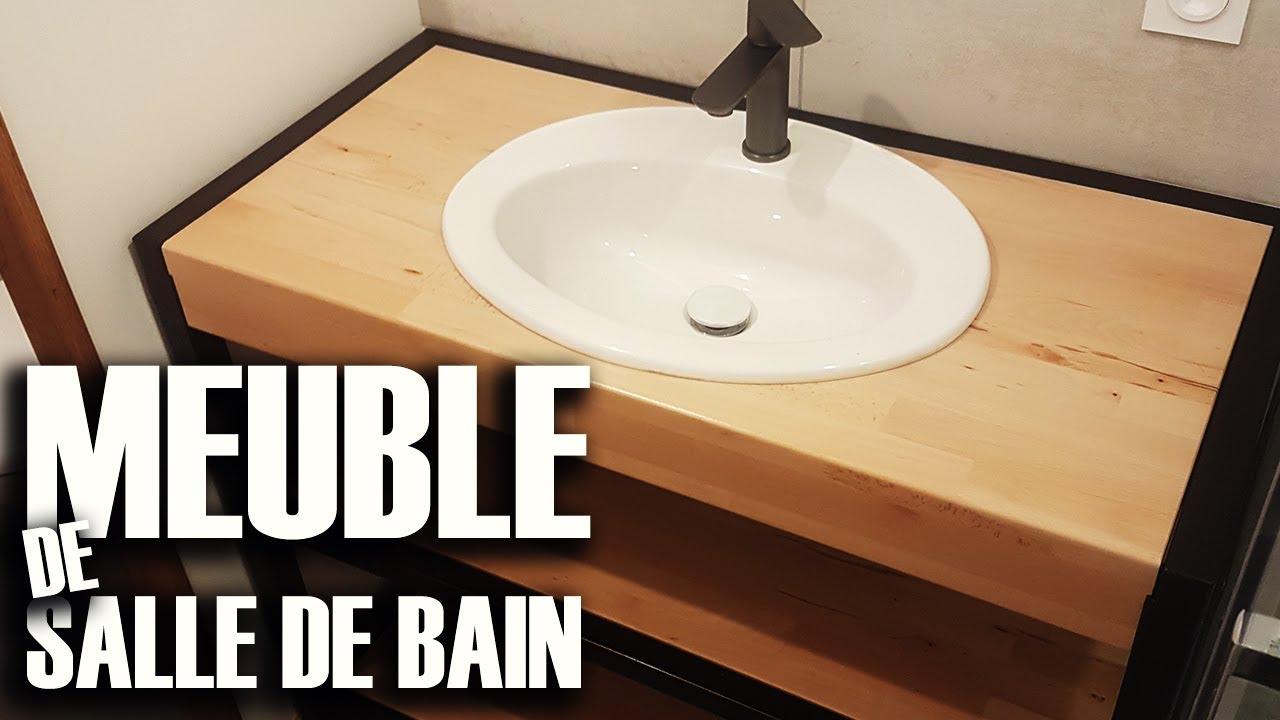 Meuble De Salle De Bain Metal Et Bois Diy Youtube