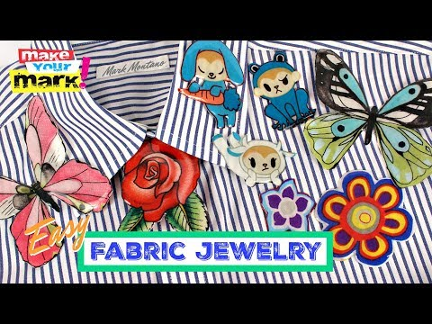 Fabric and Resin Jewelry DIY
