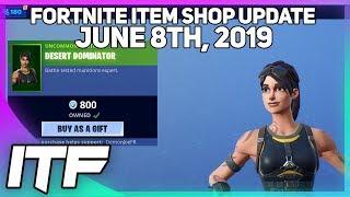 Fortnite Item Shop *NEW* RELAY AND DESERT DOMINATOR SKINS! [June 8th, 2019] (Fortnite Battle Royale)