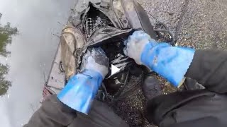 Heavy bag found with mystery contents Magnet Fishing #23