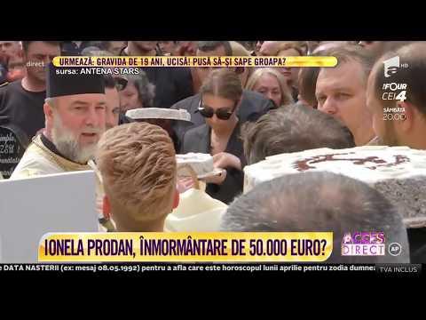 Ionela Prodan a fost înmormântată pe Aleea Artiştilor, în cimitirul Bellu din Capitală