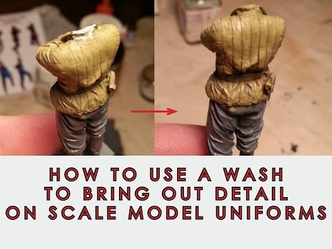 How to use a Wash to bring out detail on scale model figure uniforms