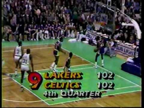 1984-85 Lakers @ Celtics 4th Quarter (Chick Hearn)