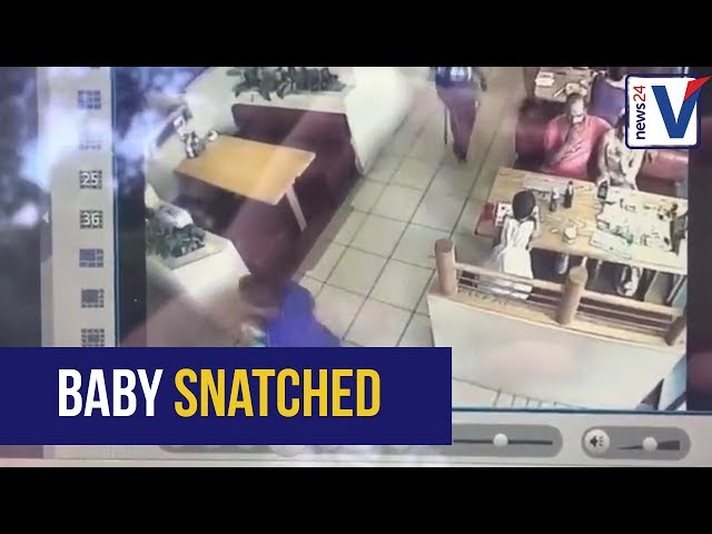 WATCH: Stranger snatches baby in 10 seconds