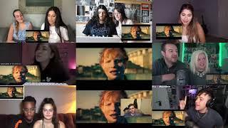 Reaction mashup | Ed Sheeran - Bad Habits [Official Video]
