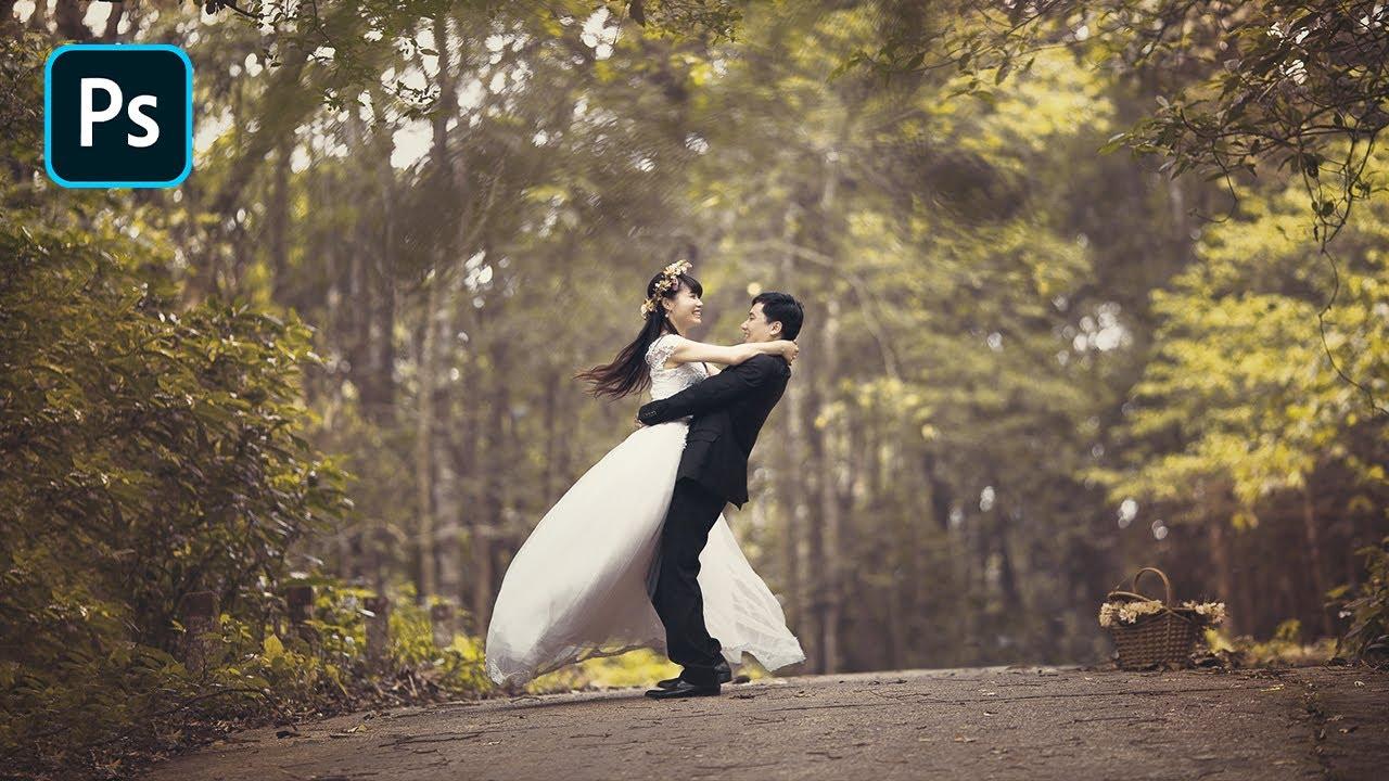 Dramatic soft color effect prewedding | photoshop tutorial youtube.