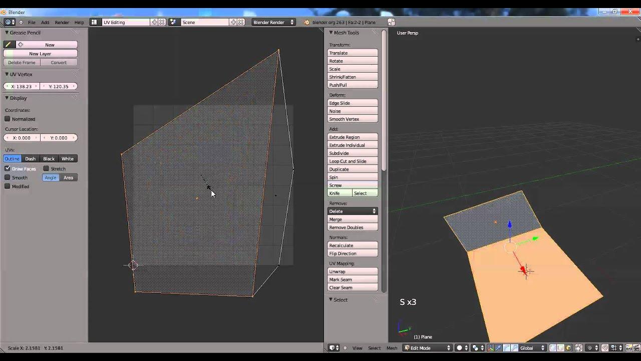 Blender - Scale, Rotate, Grab in UV editor