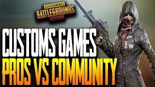 PRO vs COMMUNITY Custom Games - v080 Update PUBG Mobile