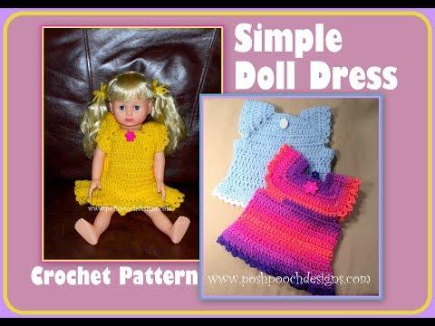 Simple Doll Dress Crochet Pattern