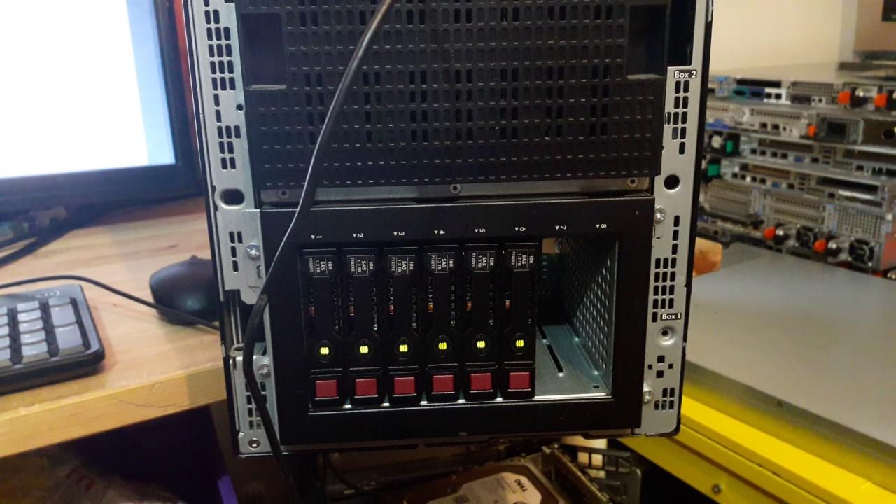 Hp ml350p gen8 6* 1 2tb sas 10k vmware 6 0 u2 p420i raid configuration
