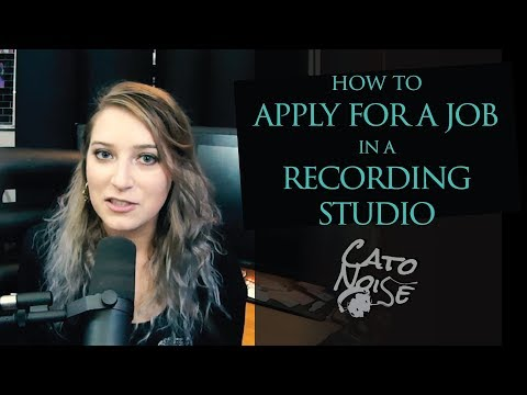 How To Apply For A Job In A Recording Studio