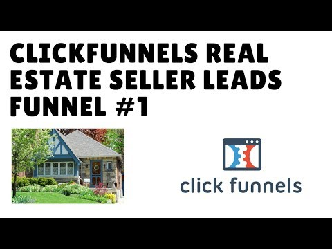 ClickFunnels Seller Leads Funnel #1 for Realtors - FREE Real Estate ClickFunnels Template