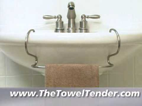 The Toweltendertm Towel Bar For Pedestal Sinks Youtube
