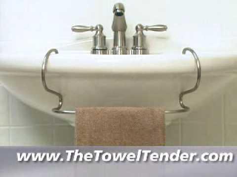 towel bar for pedestal sinks