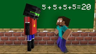 Monster School : Herobrine vs Wither Skeleton Gangster - Funny Minecraft Animation