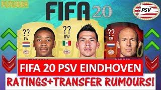 FIFA 20   PSV EINDHOVEN PLAYER RATINGS!! FT. LOZANO, ROBBEN, BERGWIJN ETC... (FIFA 20 UPGRADES)