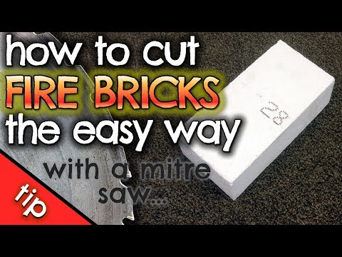 How to cut Fire Bricks the EASY way with a mitre saw by VegOilGuy