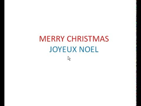 how to say merry christmas in french - How To Say Merry Christmas In French