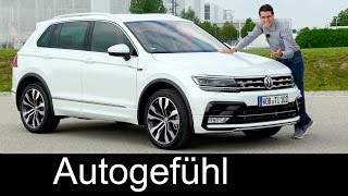 VW Volkswagen Tiguan R-Line FULL REVIEW 240 hp BiTurbo TDI test driven