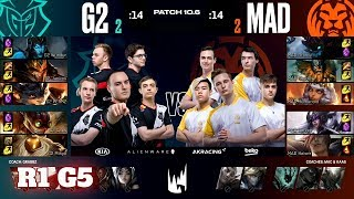 G2 Esports vs Mad Lions - Game 5 | Round 1 PlayOffs S10 LEC Spring 2020 | G2 vs MAD G5