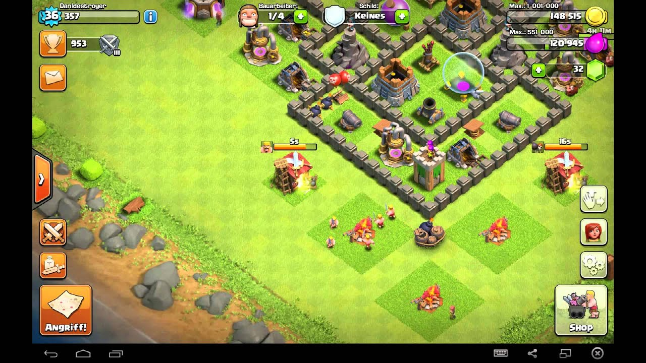 lets play clash of clans german part 40 mein yt name. Black Bedroom Furniture Sets. Home Design Ideas