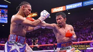 MANNY PACQUIAO DROPS & EMBARRASSES KEITH THURMAN!!! POST FIGHT REVIEW (NO FOOTAGE)