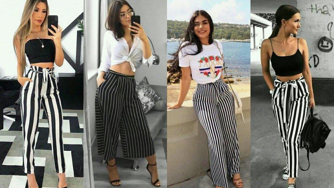 Pantalones Rayados De Moda 2021 Diferentes Maneras Para Combinarlos Moda Para Chicas Youtube