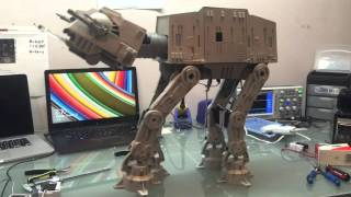 Star Wars Imperial AT-AT Walker walks, shakes a paw and drops the winch