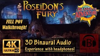 [4K, 3D Audio] Poseidon's Fury Full Walkthrough 4K POV Binaural 3D Audio - Islands of Adventure Orl