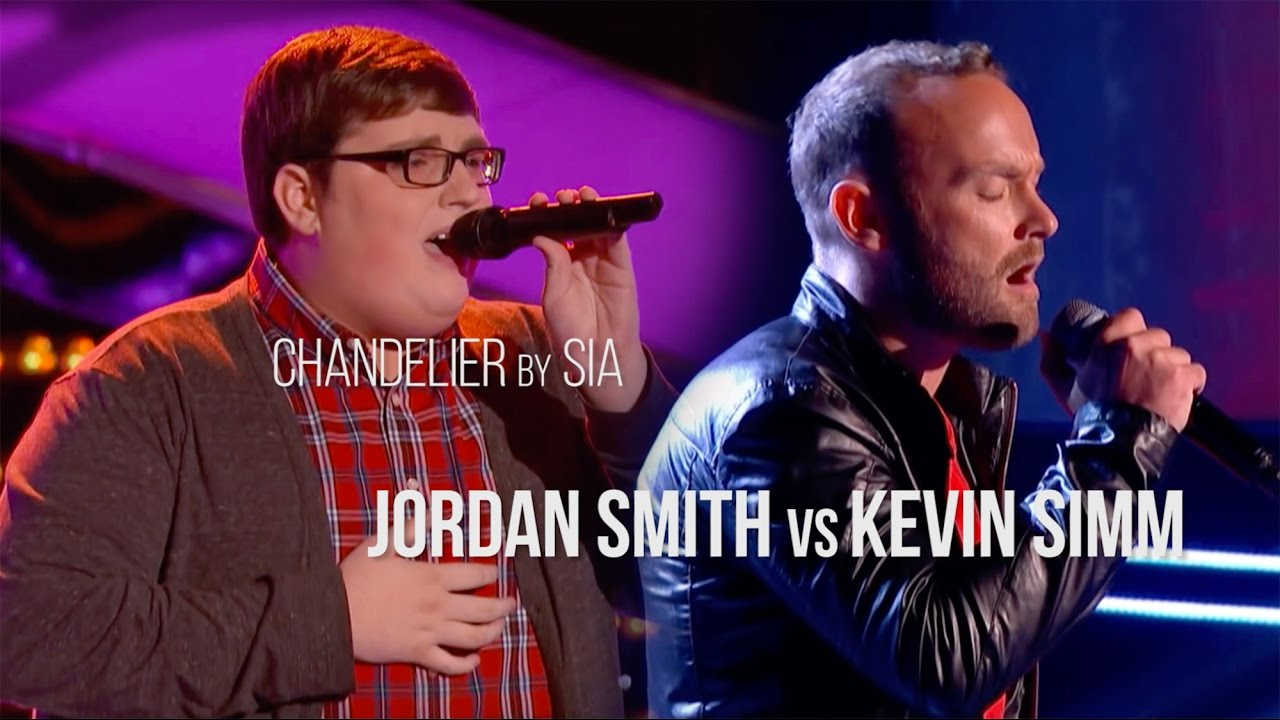 Chandelier | Blind Auditions | Jordan Smith vs Kevin Simm | The ...