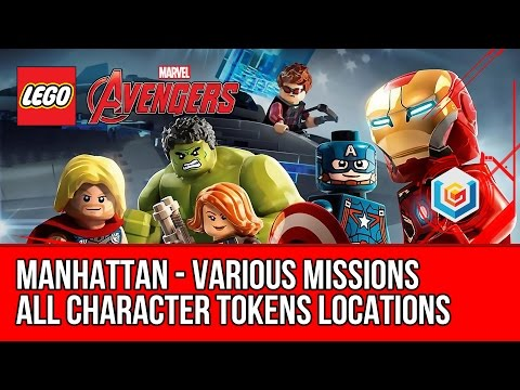 LEGO Marvel's Avengers - Manhattan - All Character Tokens Co
