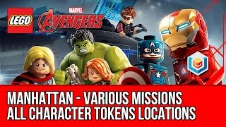 LEGO Marvel's Avengers - Manhattan - All Character Tokens Collectibles - Various Missions