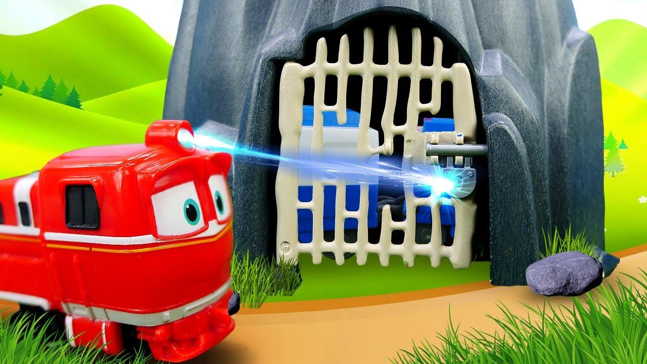Trenes infantiles en español. Juguetes de Robot Trains para niños. Vídeo infantil
