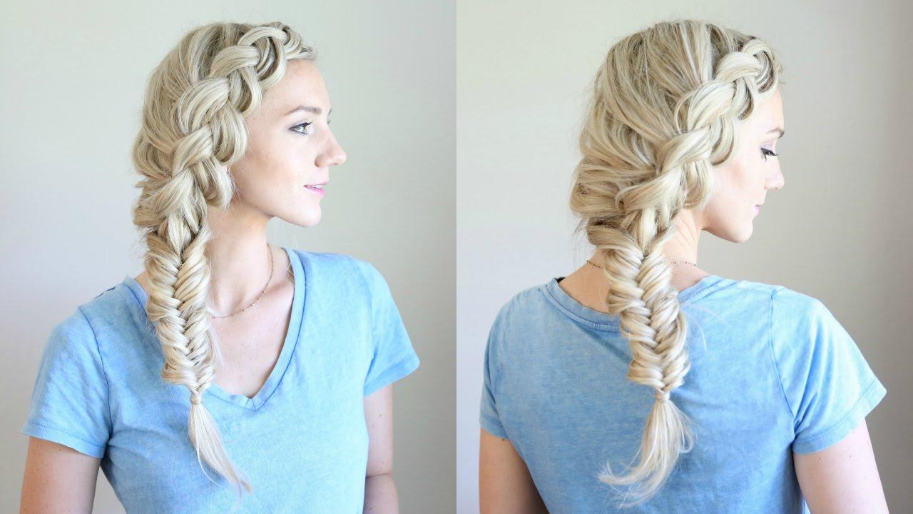 Beautiful Combo Side Braid Cute Girls Hairstyles Youtube