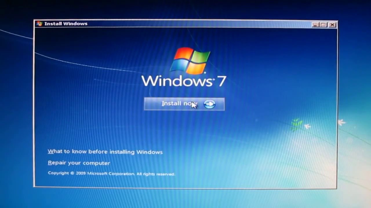 Install Windows 7 on SSD step by step
