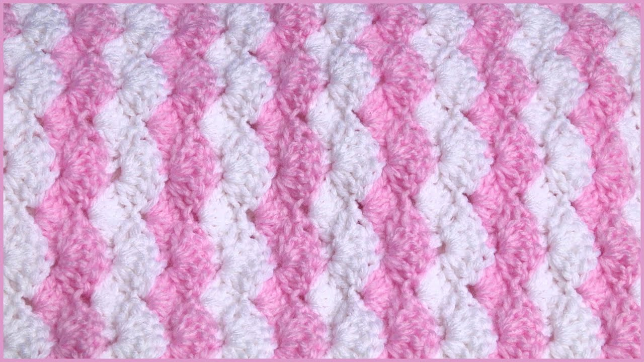 How to Crochet a Baby Blanket Using a Shell Stitch | Doovi