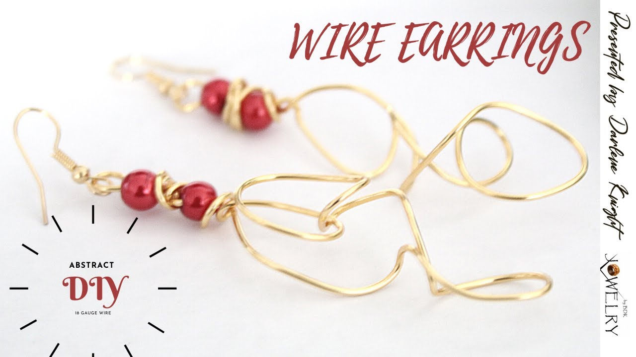 Learn How to Make These Pearl & Gold Wire Dangle Earrings