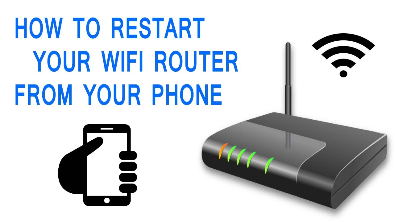 How to restart Wi-fi router From Your phone - YouTube