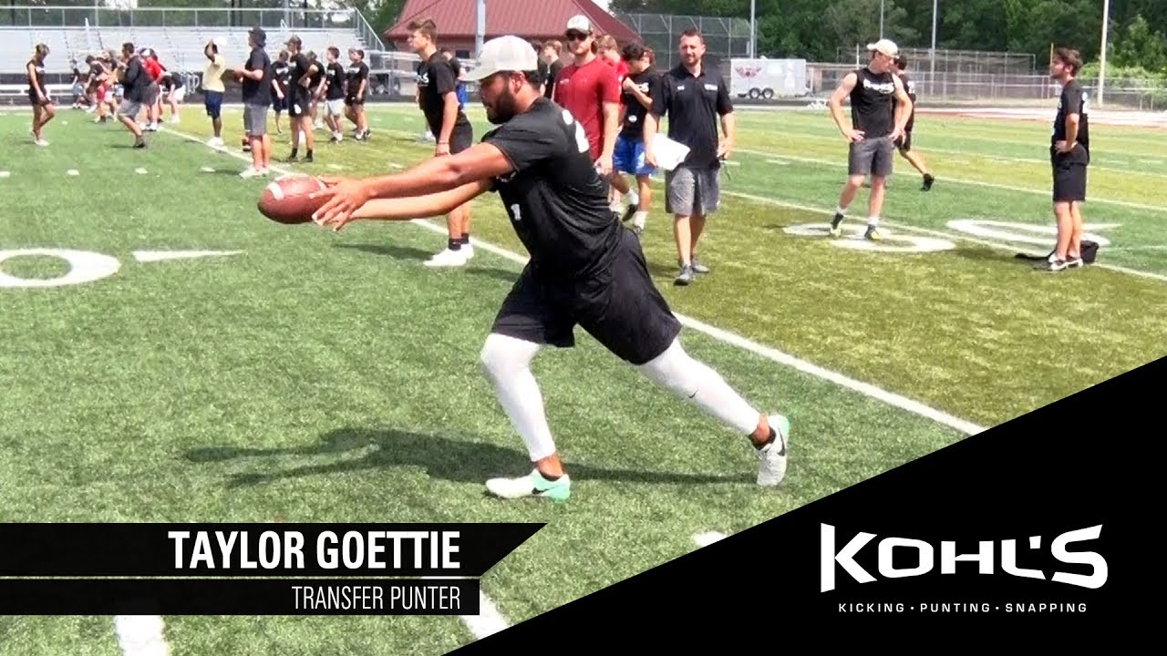 f123715046 1 Ranked Transfer Punter | Taylor Goettie | Kohl's Kicking Camps ...