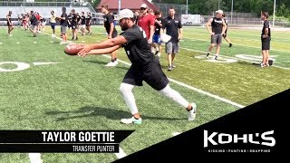 #1 Ranked Transfer Punter | Taylor Goettie | Kohl's Kicking Camps