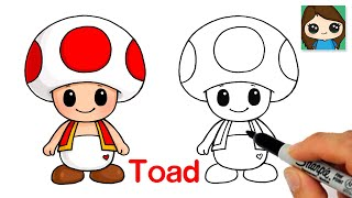 How to Draw Toad Super Mario