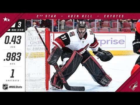 Adin Hill earns second star of the week