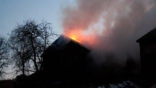 Pożar budynków gospodarczych w Bogucinie.