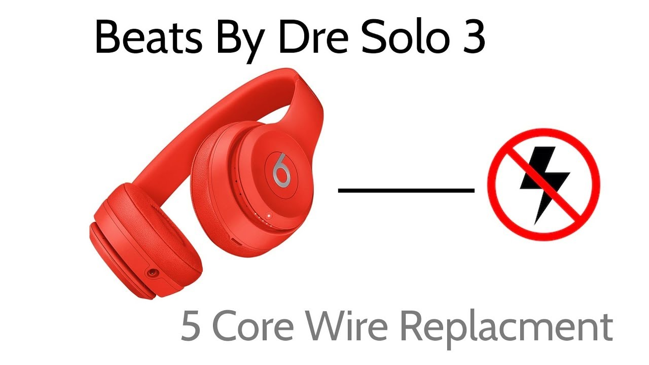 Beats By Dre Solo 3 No Power Wire Replacement One Side Not Working