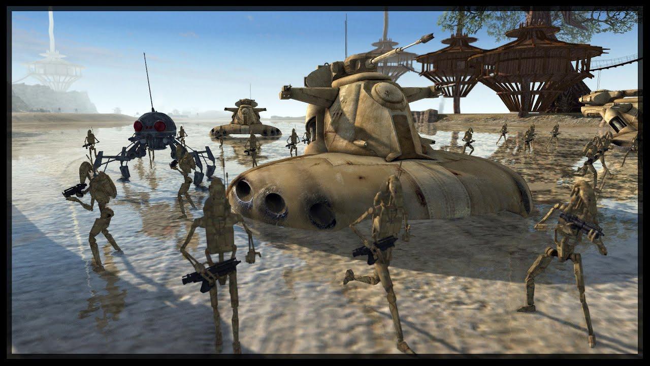 DEFEND THE BEACHES OF KASHYYYK - Star Wars Mod - Men Of ...